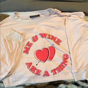 Wildfox Me & Wine are a Thing Sweatshirt sz Sm